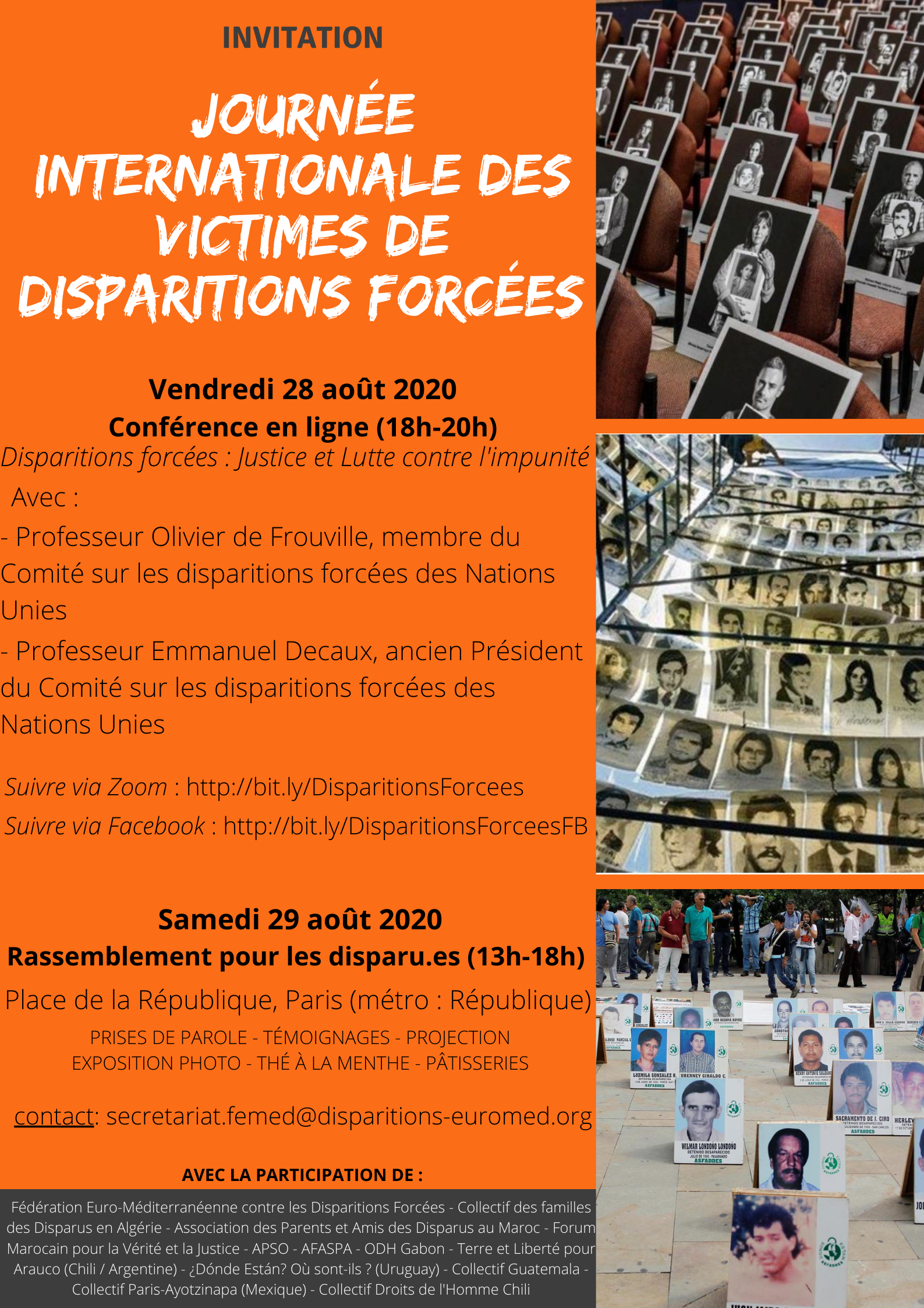 Journée Internationale des victimes de Disparition Forcée